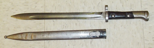 Czechoslovakian Model VZ23 Mauser Knife Bayonet, Long