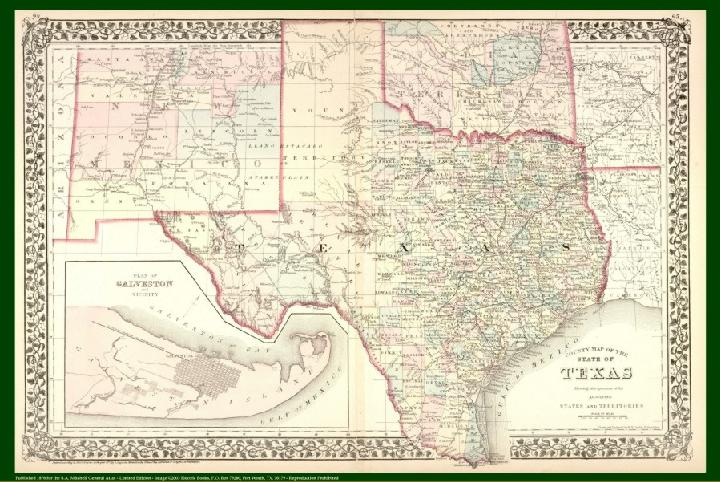 Antique Texas State Maps